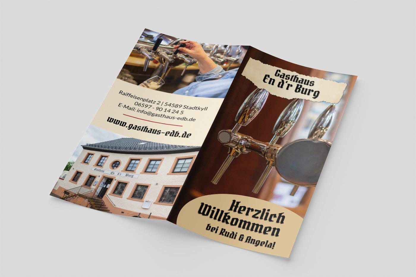 Flyer Gasthaus En d'r Burg
